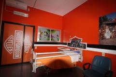 Inaugurazione 2017 cameretta stile Biker reparto Pediatria Ospedale di Busto Arsizio