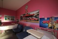 Progetto della cameretta in stile Grease nel reparto Pediatria Ospedale di Busto Arsizio - Kustom Road ® Edizione 2018
