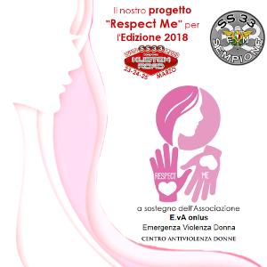 """Progetto """"Respect Me"""" - Kustom Road 2018. Progetto a sostegno dell'Associazione E.VA onlus - Emergenza Violenza Donna - Via San Michele 1bis/A2 - 21052 - Busto Arsizio (VA)"""